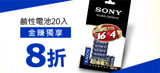 SONY 超效能鹼性3號電池 16+4入裝