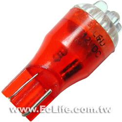 T13插入式 車用 6顆LED紅