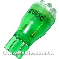 T13插入式 車用 6顆LED綠