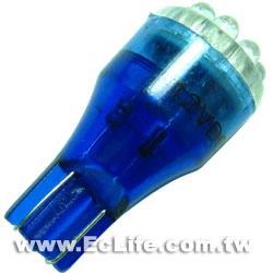 T15  車用9顆插入式LED 藍色