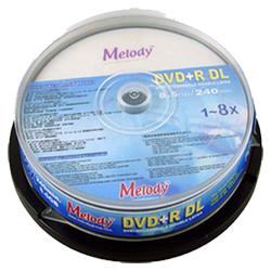 Melody 8X DVD+R DL片  10入布丁筒