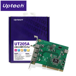 Uptech 登昌恆 UT205A  USB2.0  5-Port 擴充卡
