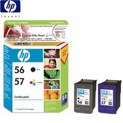 HP C6656AA+C6657AA 原廠彩色墨匣組合包