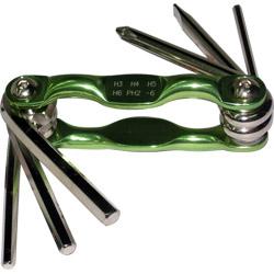 台製綠色合金多功能起子六角板手組 6PCS T85104