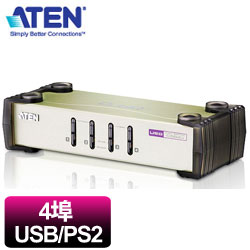 ATEN宏正 CS84U 4埠桌上型KVM切換器 (鍵鼠P+U/2048x1536)