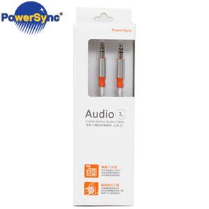 PowerSync群加 3.5mm立體音源線(公對公) 3M 銀白  35-ERMM39