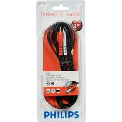 PHILIPS 飛利浦 SWA2520W 3.5mm對2RCA音源線 3M 黑