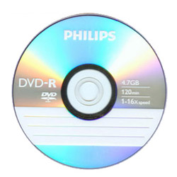 PHILIPS 飛利浦 16X DVD~R 燒錄片 25入