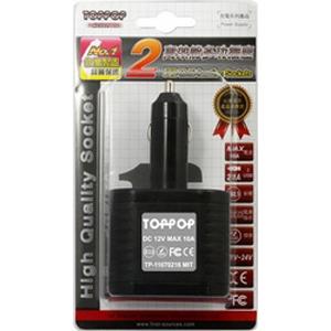 TOPPOP 1+2車充USB插座 高負載10A