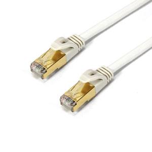 PowerSync Cat705PW SFTP高速網路線鍍金頭5M珠白