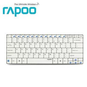 Rapoo 雷柏E6100 藍芽無線超薄鍵盤 白色