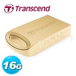 Transcend 創見 JetFlash 510G 16GB 隨身碟 鋅合金防水抗震碟 (璀璨金)