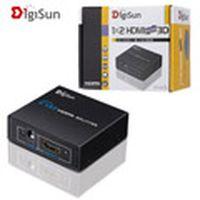 DigiSun 3D HDMI 一進二出影音分配器 VH612