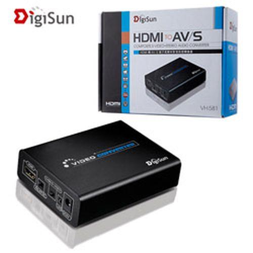 DigiSun HDMI 轉 AV/S端子高解析影音訊號轉換器 VH581