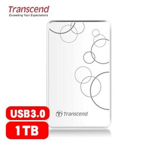 Transcend 創見 25A3 1TB 2.5吋 行動硬碟 白