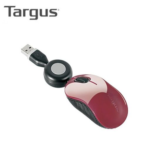 Targus 泰格斯 U102 迷你藍光隨身滑鼠紅色(1000dpi/藍光技術)