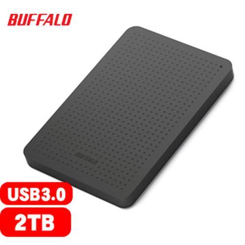 BUFFALO 巴比祿 2.5吋 2TB 外接硬碟 黑 HD-PCF