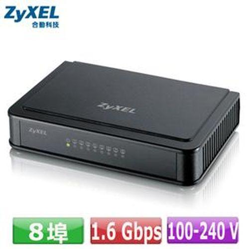 ZyXEL ES-108E 8埠桌上型快速乙太網路交換器