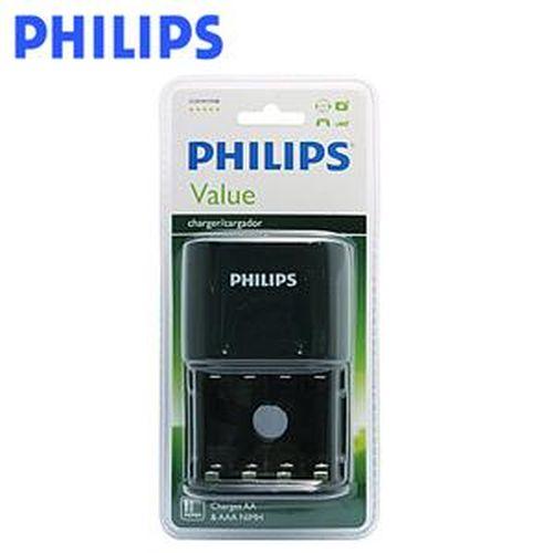 PHILIPS 飛利浦 SCB1411NB 四槽充電器 黑色