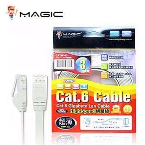 Cat.6 超薄 Hight-Speed 網路線 - 3M 白