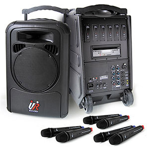 UR SOUND PA9260N 六頻CD/USB/SD移動式無線擴音機