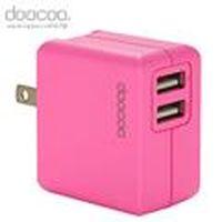 doocoo itofu2 2.1A dual USB Adaptor (雙輸出USB充電器) - 粉紅色