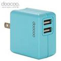 doocoo itofu2 2.1A dual USB Adaptor (雙輸出USB充電器) - 藍色