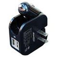 雙效智慧 3.1A 急速充電器 Santec-2000 黑