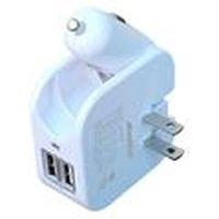 雙效智慧 3.1A 急速充電器 Santec-2000 白