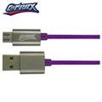 COTRAX 鋁合金抗摩擦高速傳輸充電線 Micro USB 1M 紫