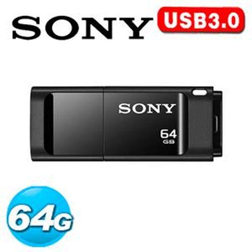 SONY 新力 USM-X 繽紛 USB 3.0 64GB 隨身碟 黑色