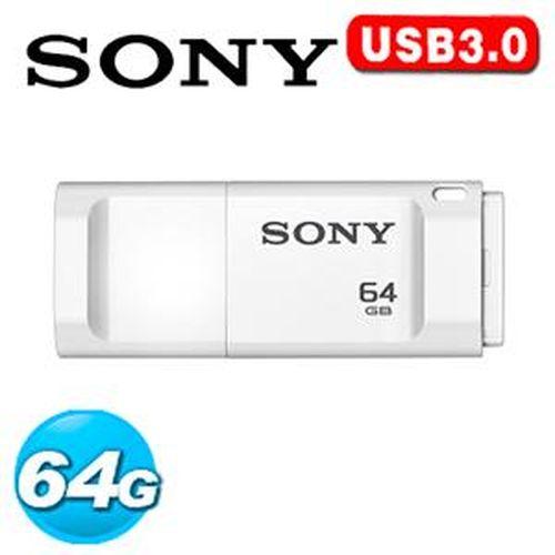 SONY 新力 USM-X 繽紛 USB 3.0 64GB 隨身碟 白色