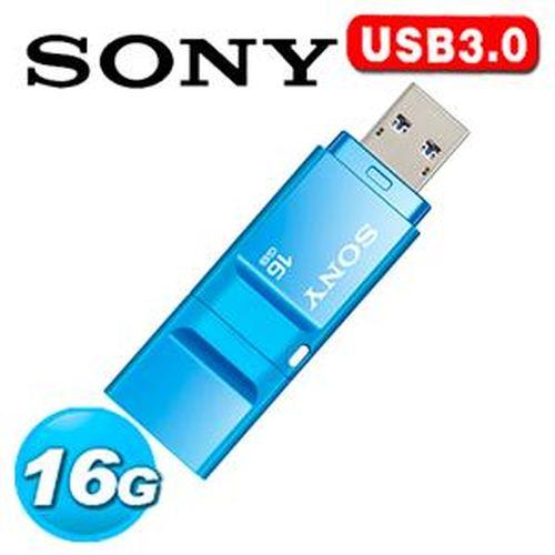 SONY 新力 USM-X 繽紛 USB 3.0 16GB 隨身碟 粉藍色