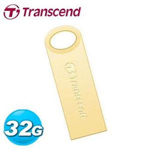 Transcend 創見 JetFlash520G  32GB 隨身碟 鋅合金防水抗震碟 (奢華金)