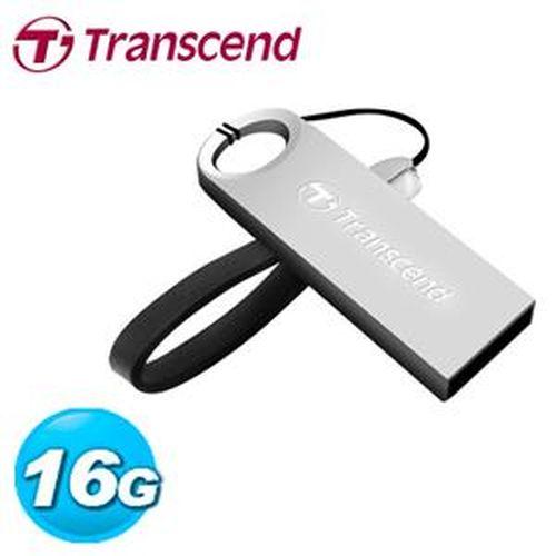 Transcend 創見 JetFlash 520S 16GB 隨身碟 鋅合金防水抗震碟 (冷調銀)
