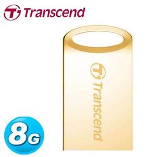 Transcend創見 鋅合金防水抗震碟 JetFlash 510G 8GB 金