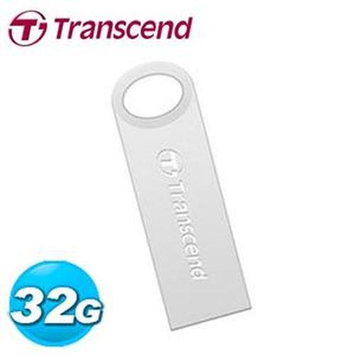 Transcend 創見 JetFlash 520S 32GB 隨身碟 鋅合金防水抗震碟 (冷調銀)