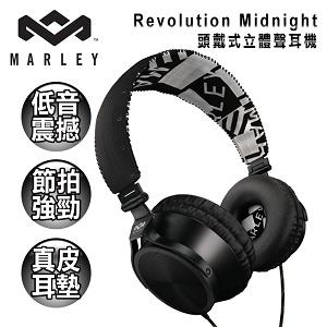 【Marley】 Revolution Midnight 頭戴式立體聲耳機(黑)