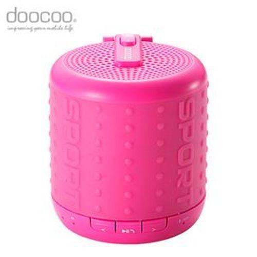 doocoo ibomb 藍牙無線喇叭 運動款 粉紅