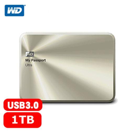 WD My Passport Ultra 2.5吋 1TB 金屬行動硬碟 香檳金