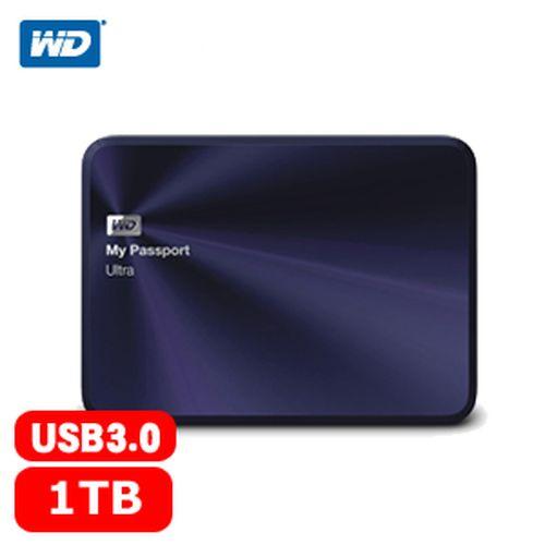 WD My Passport Ultra 2.5吋 1TB 金屬行動硬碟 深藍