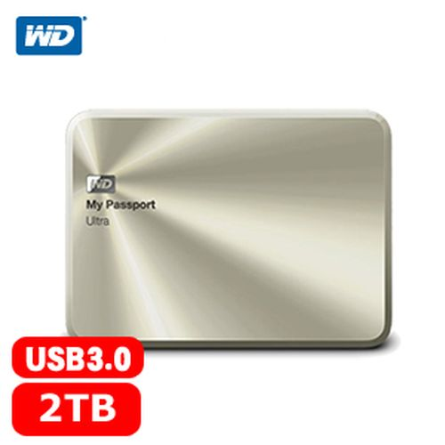 WD My Passport Ultra 2.5吋 2TB 金屬行動硬碟 香檳金