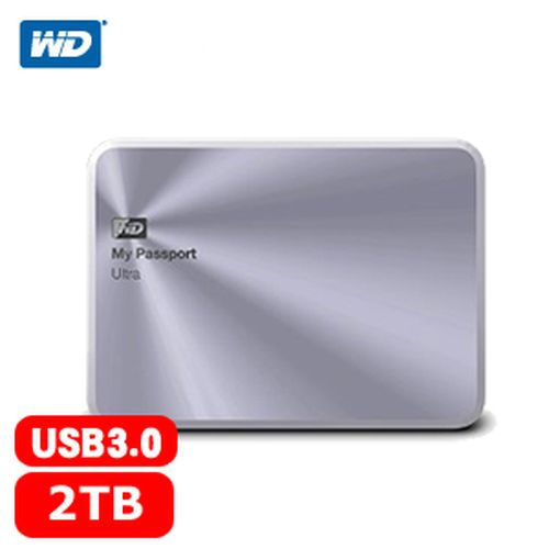 WD My Passport Ultra 2.5吋 2TB 金屬行動硬碟 銀