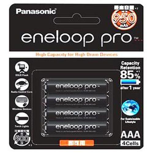 Panasonic 低自放電 4 號鎳氫充電電池 4只裝 (BK4HCCE4BTW)