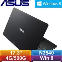 【福利品】ASUS華碩 X751MD-0101AN3540 17.3吋筆記型電腦 黑