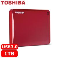 TOSHIBA CanvioConnectII V8 2.5吋 1TB行動硬碟紅