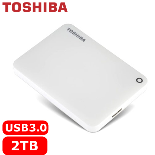 TOSHIBA CanvioConnectII V8 2.5吋 2TB行動硬碟白