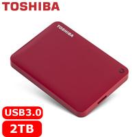 TOSHIBA CanvioConnectII V8 2.5吋 2TB行動硬碟紅