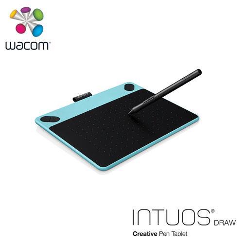 Wacom Intuos Draw 塗鴉創意繪圖板-藍(小)送微軟鍵盤~228止