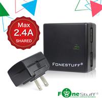 FONESTUFF 5V/2.4A雙USB方塊插座充電器-黑